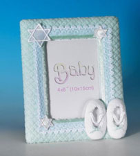 Lace Booties Photo Frame - Aqua