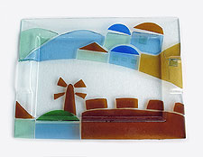 Fused Glass Jerusalem Tray