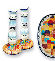 Jerusalem Candle Stick Set