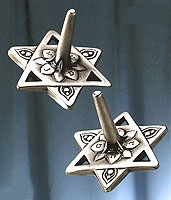 Pewter Star of David Dreidel