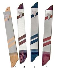 Wood and Aluminum Art Mezuzah Covers