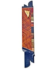 Wood and Brass Art Mezuzah Cover
