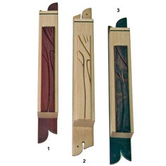 Artisitc Carved Wood Mezuzah Cover - Studio