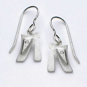 Sterling Silver Small Chai Earrings