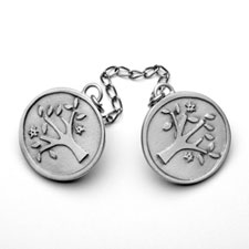 Pewter Tree of Life Tallit Clip