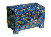 Emanuel Wood Painted Etrog Box - Floral
