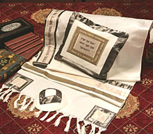Soft Cotton & Silk Tallit Set - A Time for Everything