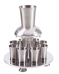 Anodized Aluminum Kiddush Fountain - Silver