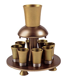 Anodized Aluminum Kiddush Fountain - Gold