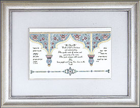 Judaic Framed Art - Women's Blessings
