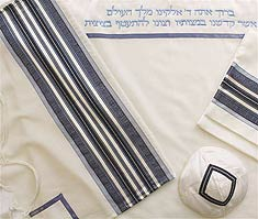 Wool Tallit Set - Blues
