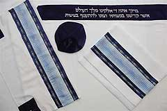 Viscose Tallit Set - Blues