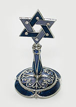 Jeweled Star of David Ring Holder