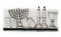 Hanukkah Silver Plated Card/Note Holder