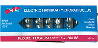 Flickering Hanukah Bulbs