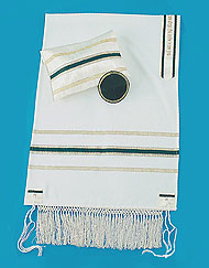 Magnificent Heirloom Tallit Set - Classic Green / Gold