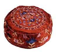 Hand Embroidered Kippah Hat - Maroon