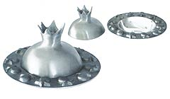 Aluminum Pomegranate Honey Dish - Silver