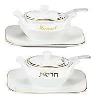 Elegant Haroset Dishes with a Tray