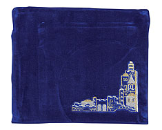 Embroidered Velvet Bag - Jerusalem