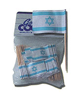 Israeli Flag Tooth Picks