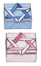 Stained Glass Square Jewelry Boxes