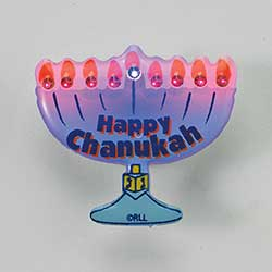 Hanukkah LED Flashing Pin
