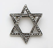 Hand Crafted Pewter Pin - Star of David