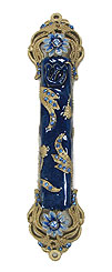 Jeweled Mezuzah Cover - Blue Royalty