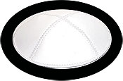 Genuine Leather Kippot - White