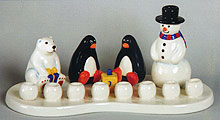 Ceramic Arctic Theme Menorah