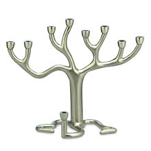The Famous Tree of Life Menorah - Nickelplate