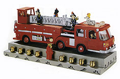 Fire Engine Sculptured Menorah