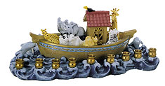 Beautiful Noah's Ark Menorah