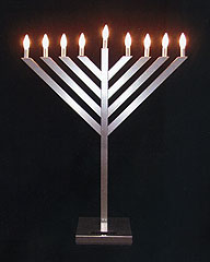 3 Foot  Stainless Steel Menorah