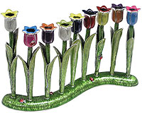 Original Hand Made Garden Menorah