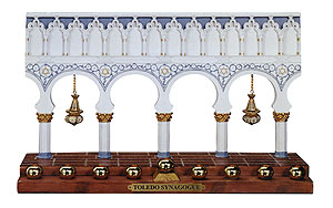 Menorah Replica of Great Synagogue Toledo Spain