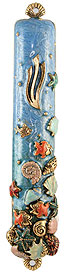 Aquarium / Shell Mezuzah Cover
