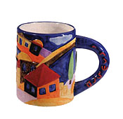 Ceramic Coffee Mug by Emanuel - Jerusalem