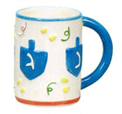 Ceramic Hanukkah Coffee Mug