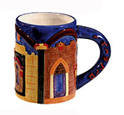 Ceramic Coffee Mug by Emanuel - Jerusalem Gates