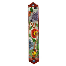 Laser Cut Mezuzah Cover - Summer