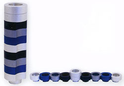 Doughnut Menorah by Avia Agayof - Black/Silver/Gray/Blue