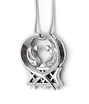 Silver Ark of Covenant Necklace