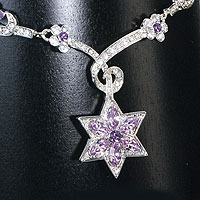 Gemstone Purple Star Necklace