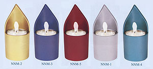 Anodized Aluminum Memorial Candle Holder