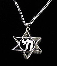 Sterling Silver Star Necklace - 3D Beauty