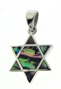 Sterling Silver Star of David - Pearlized Earthtones