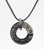 Designer Biblical Silver Necklace - Healing