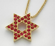 18K Rubies Everywhere! � Star of David